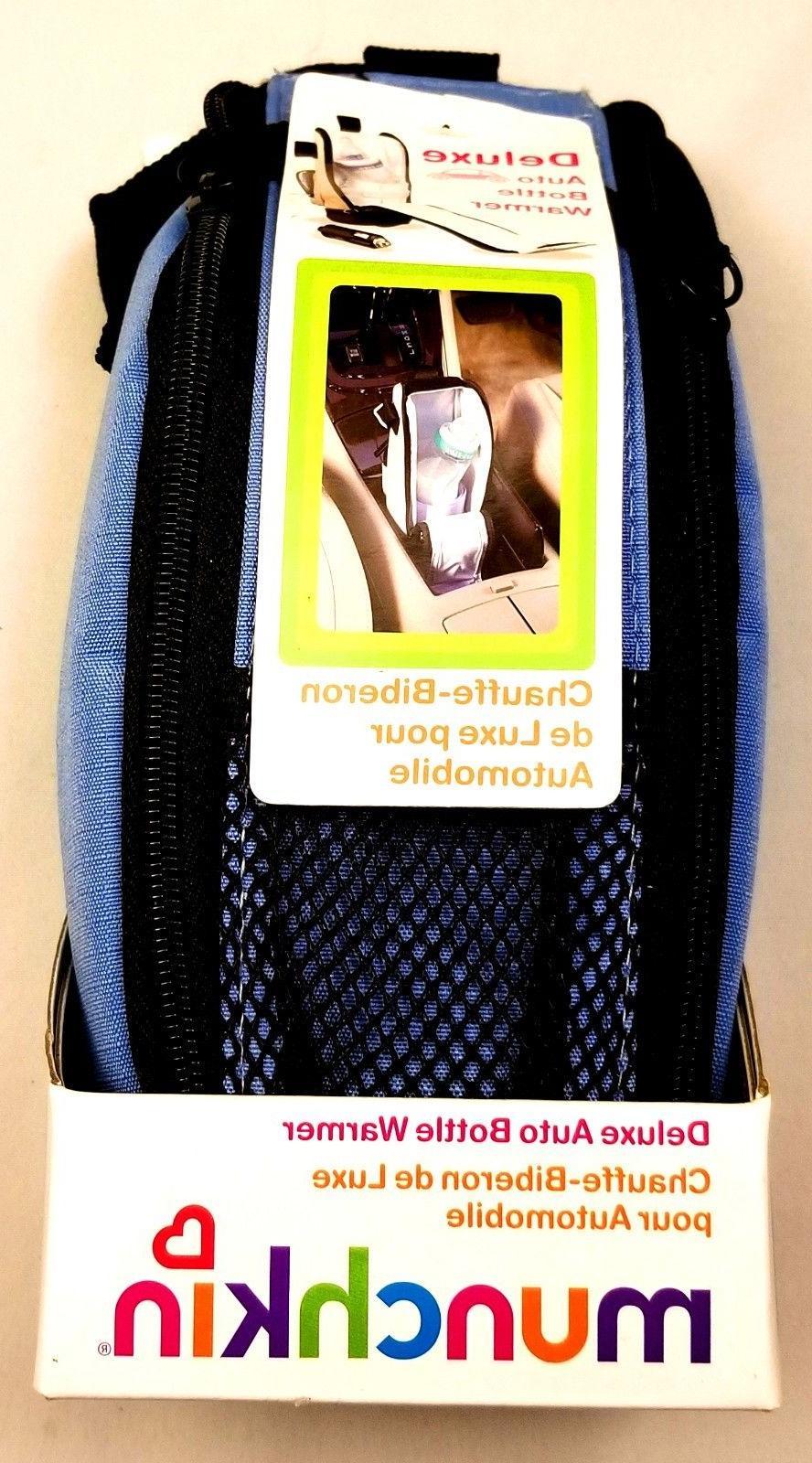 deluxe auto bottle warmer blue new in