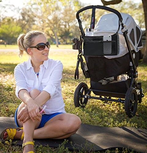 Deluxe Stroller Fit for all Multiple Zipper and Phone Pocket Deep Cup