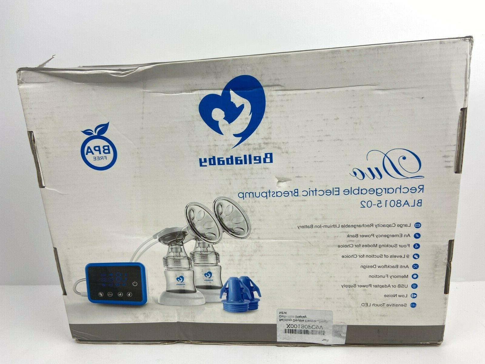 duo rechargeable electric breast feeding pump bla8015