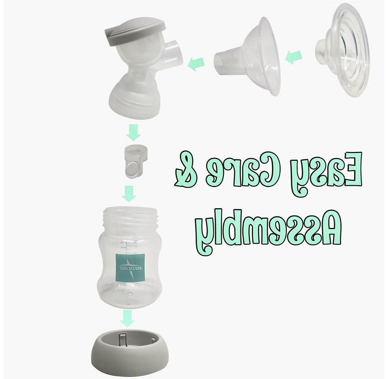 Electric Double Breast Pump w/Nursing Bags, Nipple Cream &
