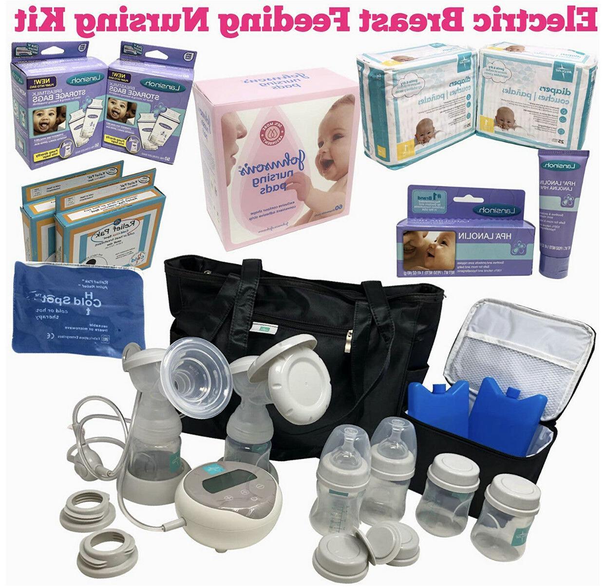 electric double breast pump w nursing purse