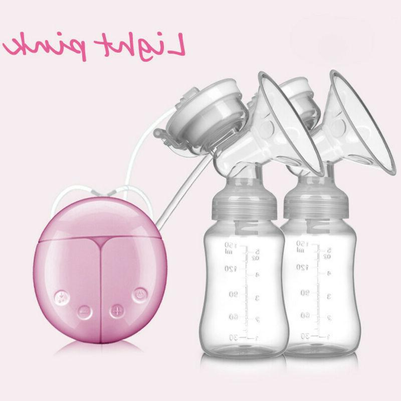 Electric Double Breast Pump Automatic Nipple Suction Pump Br