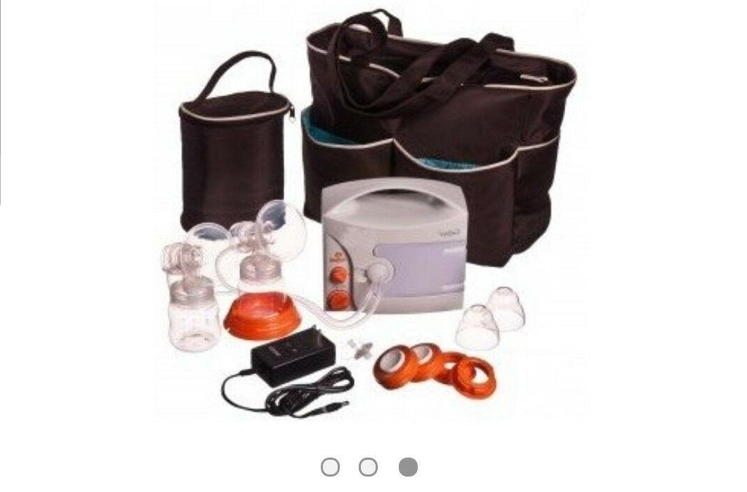 enjoye cordless double electric breast pump diaper
