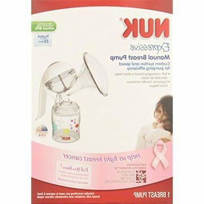 NUK Expressive Manual Breastpump Feeding Pumps Baby