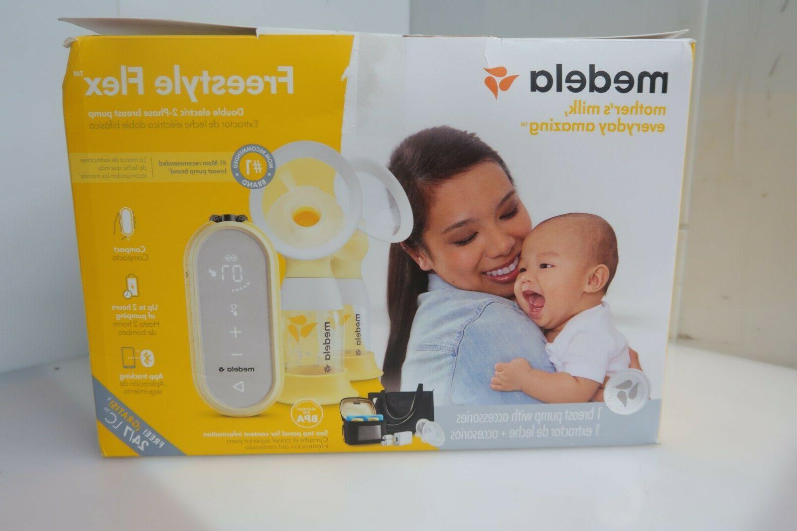 freestyle flex portable double electric breast pump