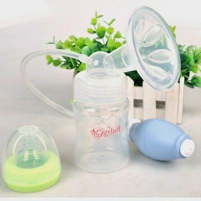 Manual Breast Pump Breastfeeding Milk Collection Bottle Baby Feeding Suction