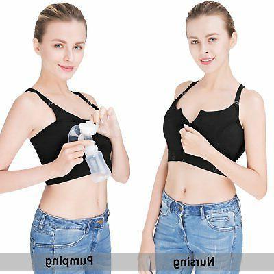 acc493e1e0f71 Hands-Free Breast Pump Bra, Breastfeeding Bra, Wire-Free, Plus