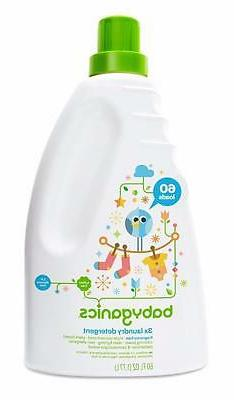 Babyganics 3X Baby Laundry Detergent, Fragrance Free, 60 Flu