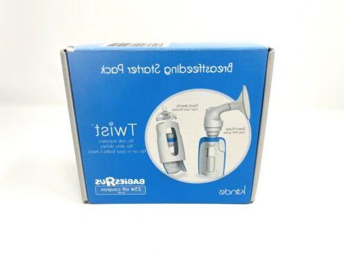 Lot Kiinde Breastfeeding Kit & Storage Twist 6 Pack of