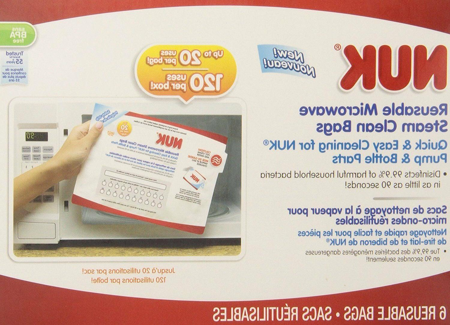 * NUK Steam Bags, Count