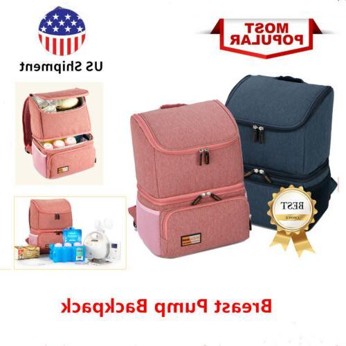 milk bottle breast pump backpack waterproof cooler