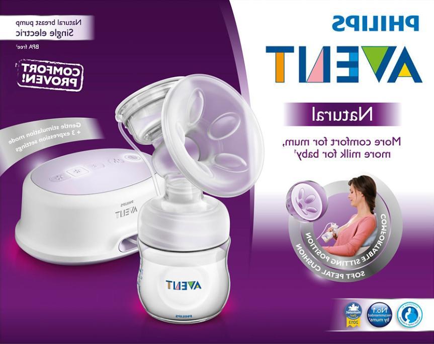 natural single electric breast pump kit comfort