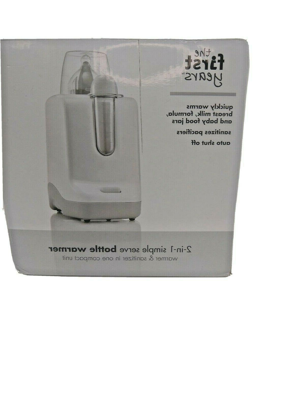 New First 2 1 Simple Serve Bottle Warmer Quickly Warm Bottles