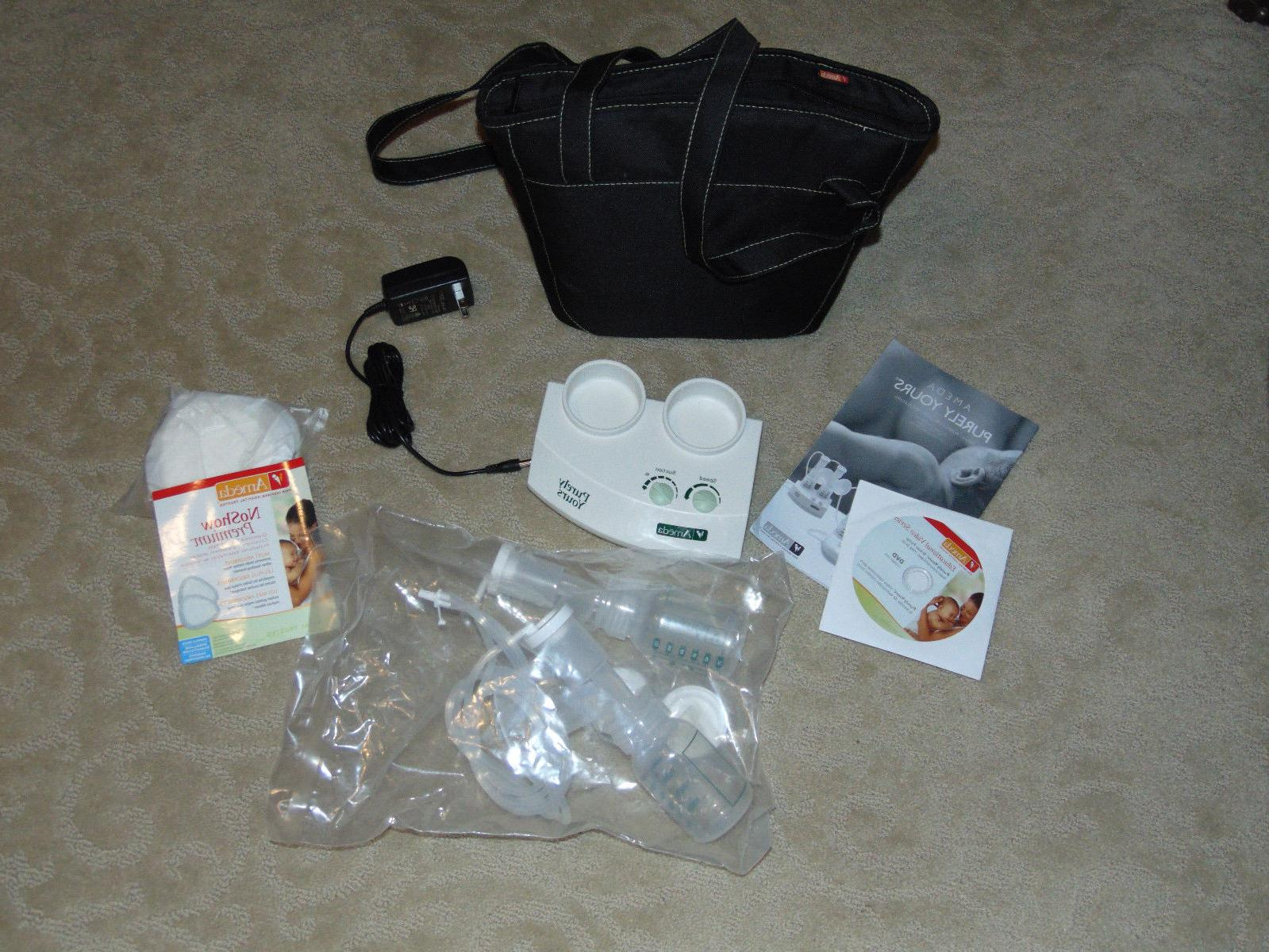 NEW AMEDA PURELY YOUR DOUBLE ELECTRIC BREAST PUMP & DISPOSAB