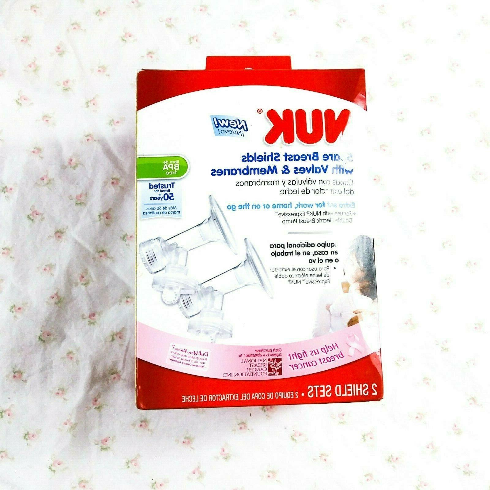 Nuk Spare Breast Shields with Valves and Membranes