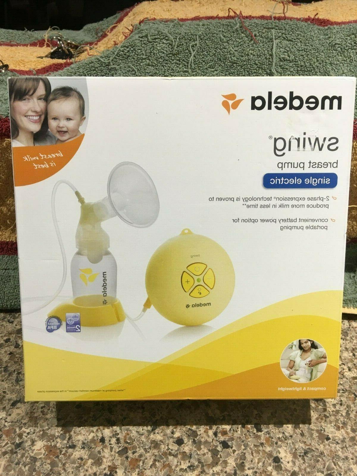new swing single electric breast pump kit