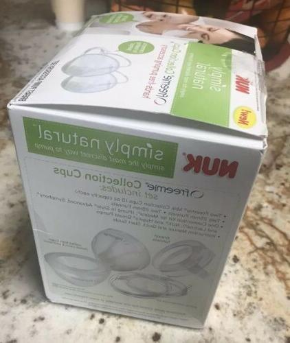 NUK Natural Collection Cups Breast Accessory Set New