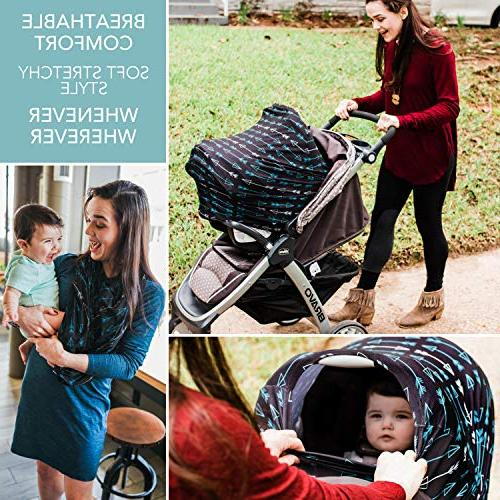Carseat for Breastfeeding Stretchy Breathable - Seat Babies High Shopping Baby - Boys Set w Free Bag