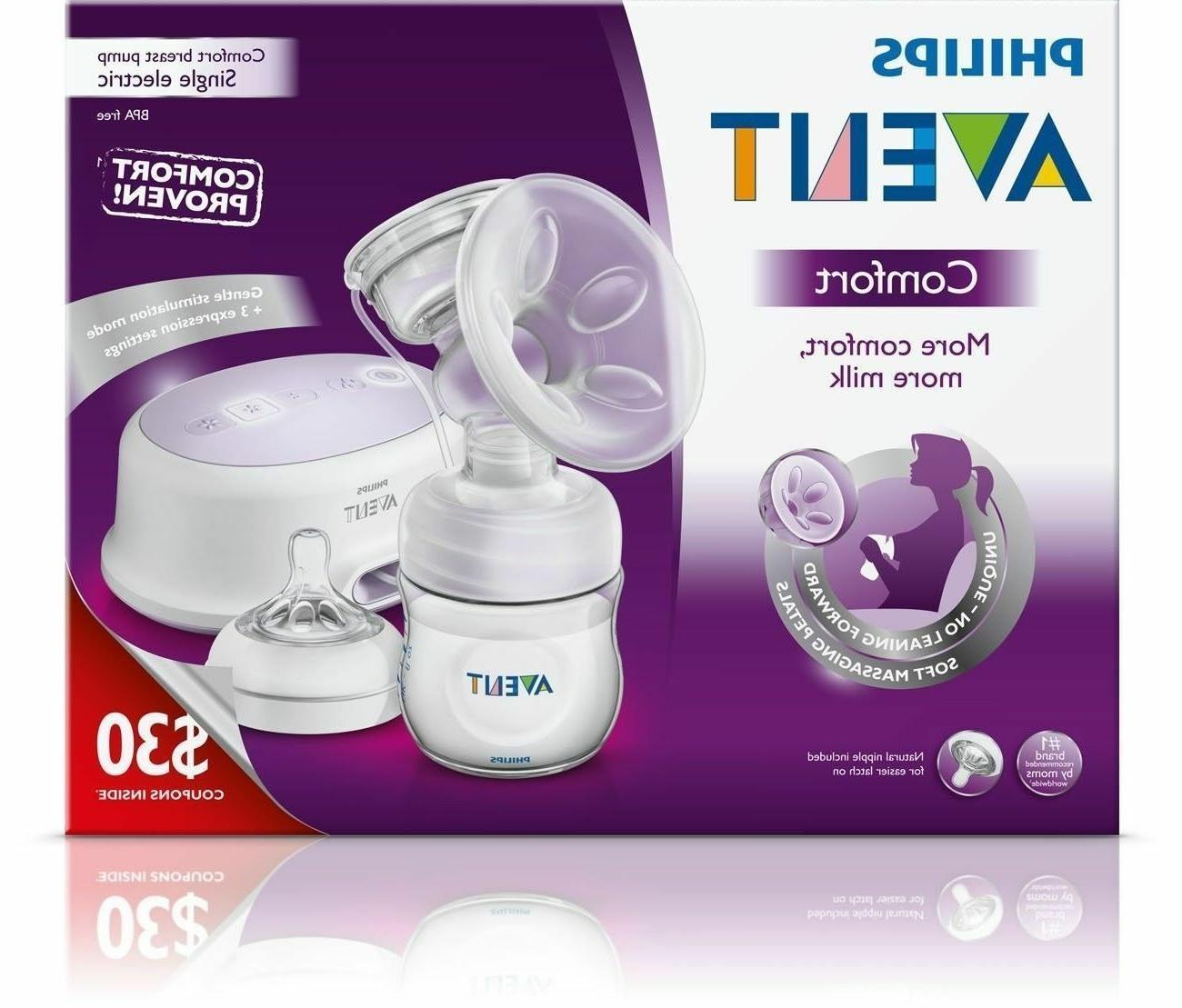 open box philips comfort single electric breast