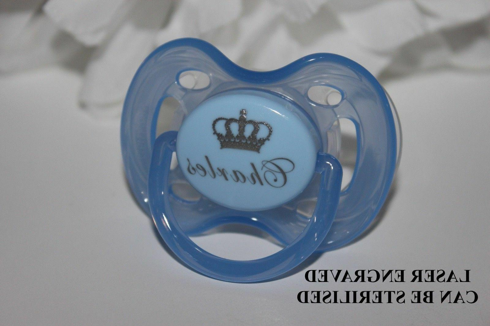 personalized pacifier pacifier soother pacifier clip crown