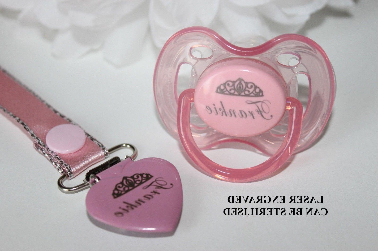 personalized pacifier pacifier soother pacifier clip girl