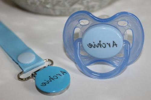 Personalized Pacifier, AVENT Pacifier, Soother, Clip
