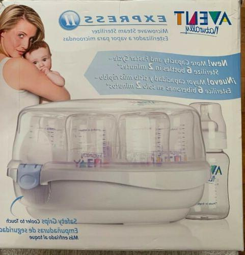 Philips AVENT Naturally Express Microwave Sterilizer 2 pc VGUC