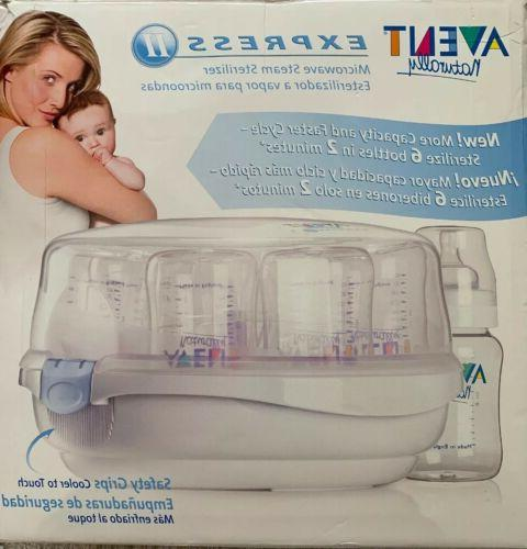 philips naturally express microwave steam bottle sterilizer