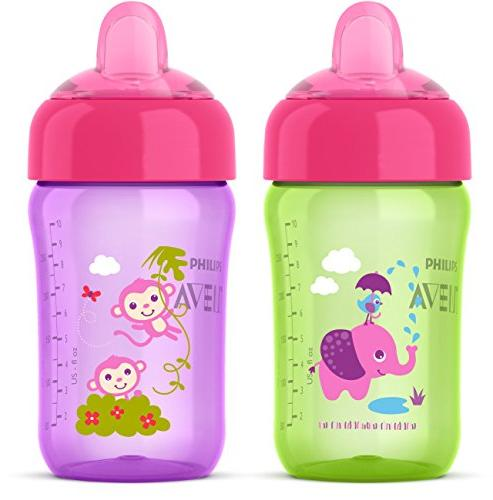 Philips Avent My Sip N Click 12 Ounce Sippy Cup 2 Pack - Gre