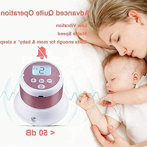 Portable Breast Pump - Dual Use Battery Baby Milk Single Breastfeeding Adjustable Massage Suction Level and Free Storage
