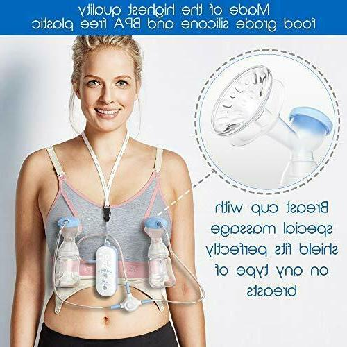 Portable Silicone Double Breast Pump Women
