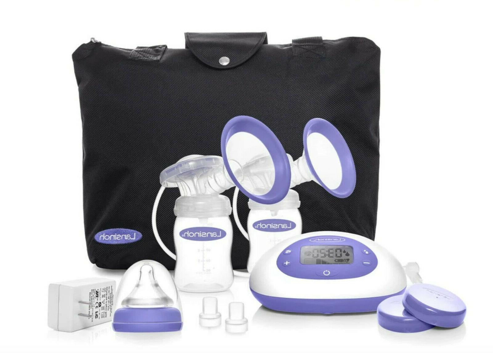 Lansinoh Signature Pro Double Electric Breast Pump W Tote