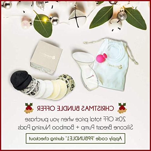 NatureBond Manual Breast Milk Suction | Bonus Stopper, Cover Air-Tight Hardcover Gift Box. Free