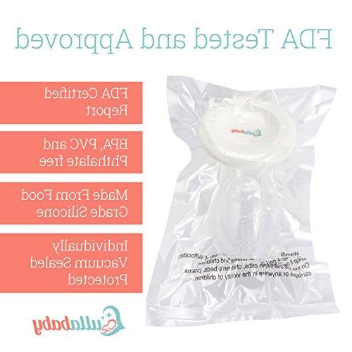 SILICONE – 2 Pack Bonus Free & Eliminate Breastmilk Hands-Free Feeding Effortless | Approved BPA Free