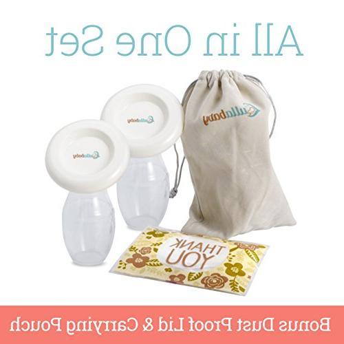 SILICONE BREASTMILK – Pack & Bonus Free & Carrying Case | Hands-Free Breast Effortless | Free
