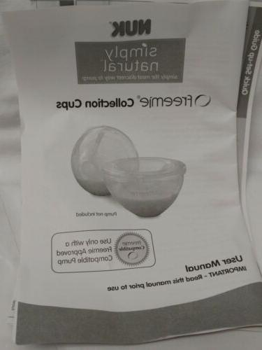 NUK Simply Natural Freemie Collection Cups Breast Pump Accessory Hands