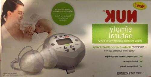 NUK NATURAL DOUBLE ELECTRIC BREAST *HANDS NEW SEALED
