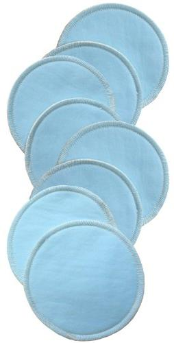 Bamboobies Washable Nursing Pads with Leak-Proof Backing Absorbent, 8