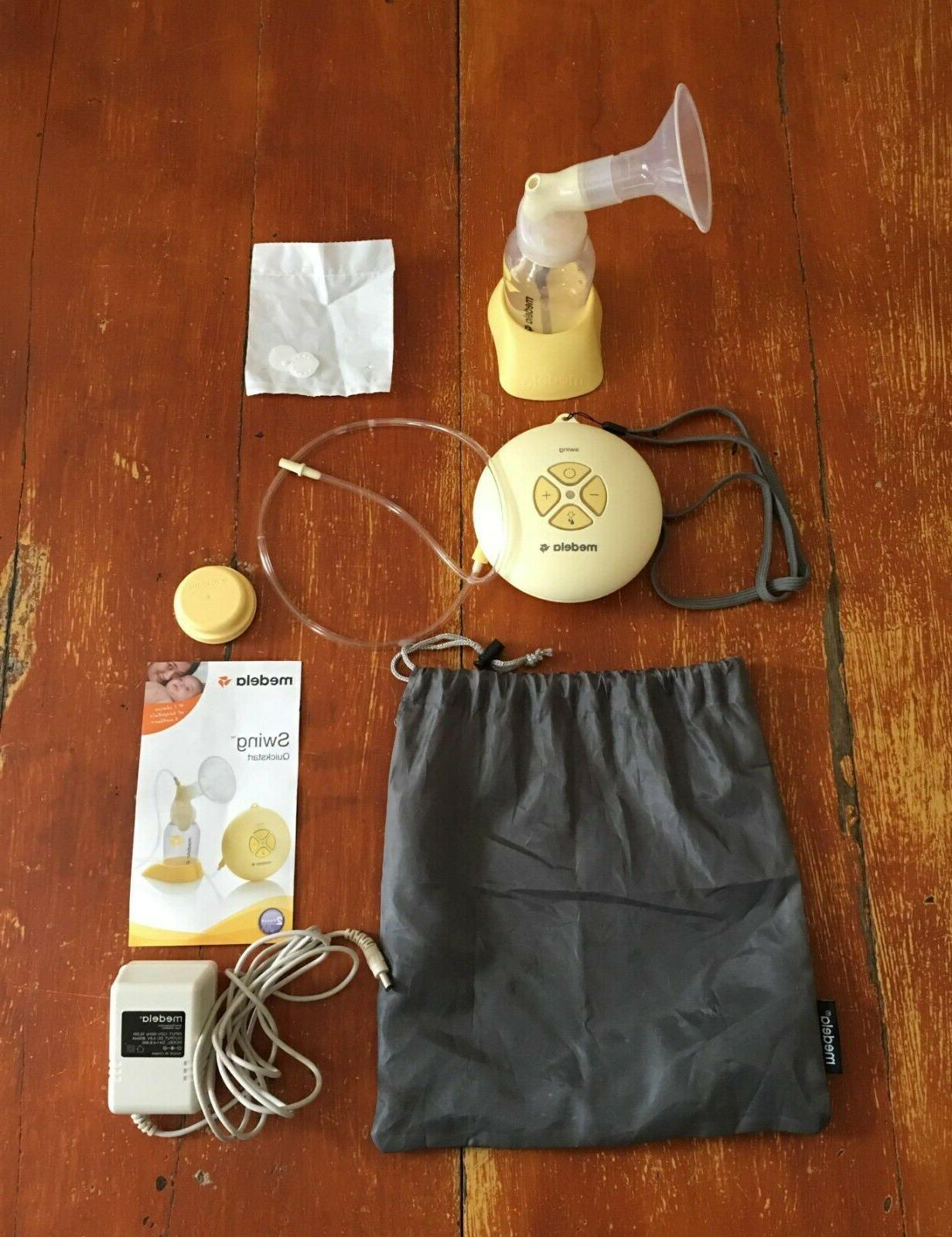 swing single electric breast pump kit