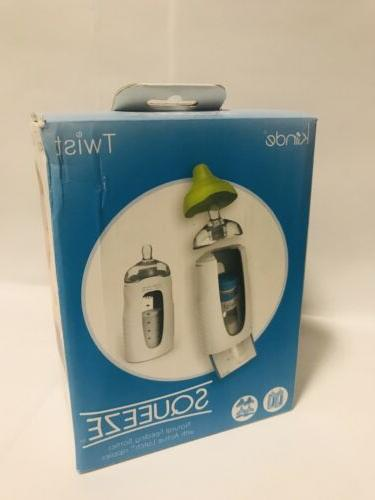 twist squeeze natural feeding bottle with nipples