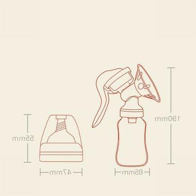 US Manual Breast Pump Bottle Milk Breast Suction OCCA