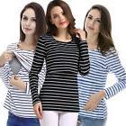 USA Long Sleeve Breastfeeding Tops Maternity Clothes Women N