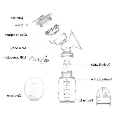 USB Double Intelligent Automatic Electric Suction Breast Milk Extractor