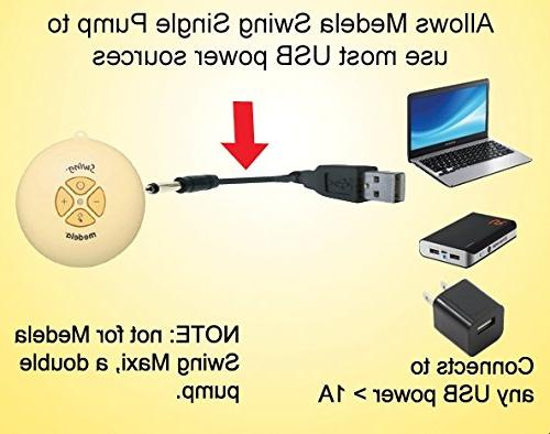 Maymom USB for Medela Breastpump Use Power or USB Source, Save Battery to DC