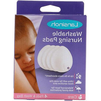washable nursing pads 4 pads and wash