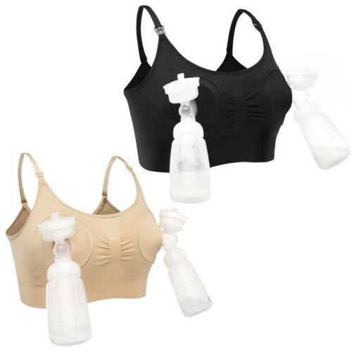 Women Free Nursing Bra Feeding Breastpump