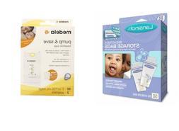 Lansinoh or Medela Breastmilk Storage Bags Pump and & Save 2