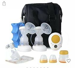 MADENAL Double Electric Breast Pump Travel Set with On The G