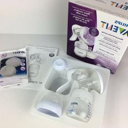 Philips Avent Manual Breast Pump SCF330/30 Comfort Clear New