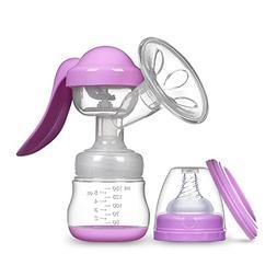 Manual Breast Pump Silicone Hand Pump Breastfeeding Food Gra
